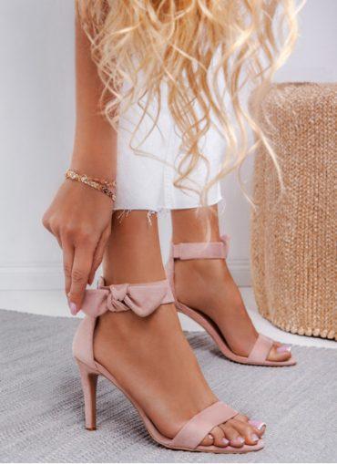 DeeZee Różowe sandały na obcasie Must Have